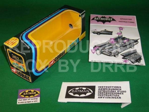 Corgi #267 Batmobile (2nd type) - Reproduction Box
